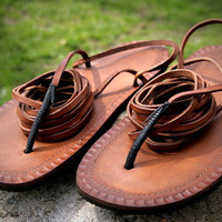 Leather Tarahumara Huarache sandals by Hippiestyle on Etsy