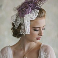 Je T'aime Feather Headband | Modern Vintage Accessories | Modern Vintage Bridal