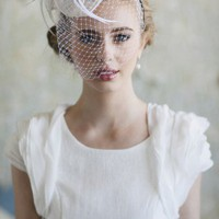 Ever Mine Ivory Fascinator | Modern Vintage Hat & Hair | Modern Vintage Accessories | Modern Vintage Bridal