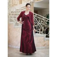 V-neck taffeta dress for mother of the bride