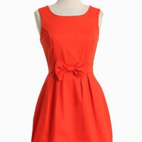 Stella Luna Bow Dress In Red
