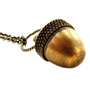 Handmade Gifts | Independent Design | Vintage Goods Secret Acorn Locket Necklace