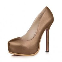 Bqueen Ultra-High with Waterproof Sheepskin Pump D084Z4 - Designer Shoes|Bqueenshoes.com