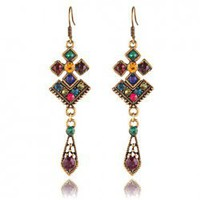 Hot Sale Elegant and Decent Rhombus Pattern Design Earrings For Female China Wholesale - Everbuying.com
