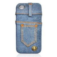 Waterwash Back Blue Jeans Back Case for iPhone 4/4s: Cell Phones & Accessories