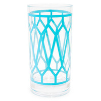 Jonathan Adler Blue Positano Highball Glass