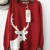 Big Reindeer Vintage Sweater [78]