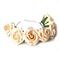 Cream Floral Crown