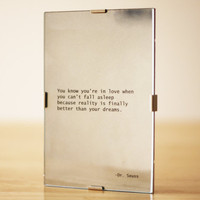 Dr Seuss Love Quote Mirror by HeartyDesign on Etsy