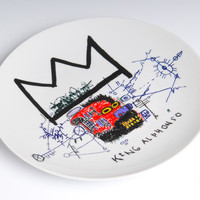 JM Basquiat plate - King Alphonso
