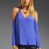 Boulee Naomi Silk Top in Royal Purple from REVOLVEclothing.com