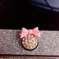 Sticker iPhone 4/4s/5 sticker bow and glitter home button [147]