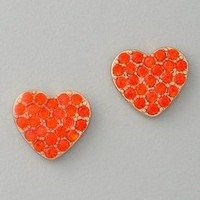 Marc by Marc Jacobs Annabelle Sparkle Pave Heart Stud Earrings | SHOPBOP