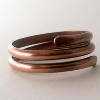 Unisex copper coil ring size 10.75