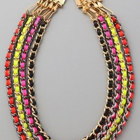 CC SKYE Neon Multi Chain Necklace | SHOPBOP