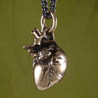 ShanaLogic.com - 100% Handmade  Independent Design! Anatomical Heart Necklace - Bronze - New Arrivals