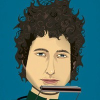Bob Dylan - Print from Iota Illustration | Made By lakeillustration | £12.00 | Bouf