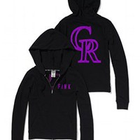 Colorado Rockies Bling Perfect Full Zip Hoodie - PINK - Victoria's Secret