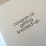 Baby Shower Card - Dear Slutbag Congrats on Getting Knocked Up