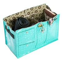 Purse Organizer with Flower Print Linning