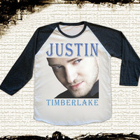 Size S, M, L -- Justin Timberlake TShirts Pop TShirts Rock TShirts Jersey Tee Baseball Tee Raglan Tee Long Sleeve Unisex Shirts Women Shirts
