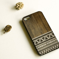 Wood Print Geometric Unique iPhone Case ,  iPhone 5 Case , Aztec Pattern iphone case , iPhone 4 Case , Plastic iPhone 4s case