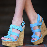 Teal Me A Secret Wedges: Suede | Hope&#x27;s