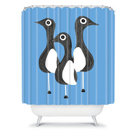 DENY Designs Home Accessories | S Eifrid The Birds Blue Shower Curtain