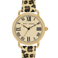 LEOPARD LEATHER STRAP VINTAGE WATCH - Betsey Johnson