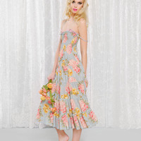 BETSEY BOUQUET SMOCKED DRESS - Betsey Johnson