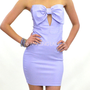 Lavender Fields Big Bow Top Purple Strapless Dress
