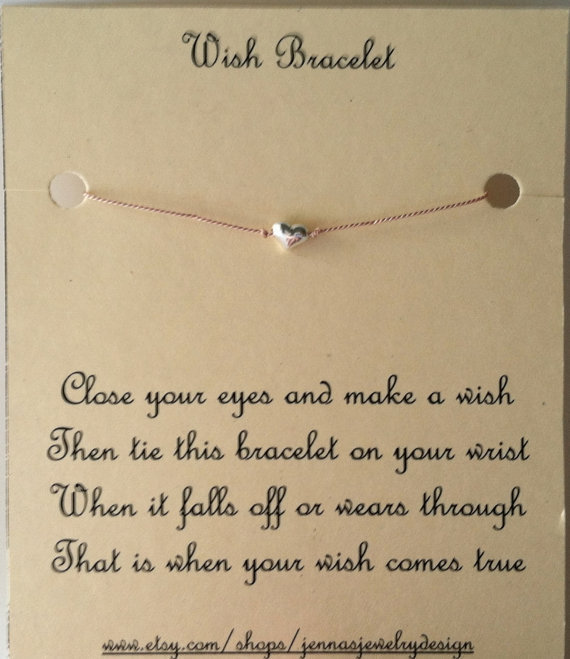 Elegant Heart Wish Bracelet Sterling Silver by Jennasjewelrydesign