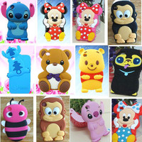 1x 3D Cute Cartoon Animal Silicone Case Cover For iPod Touch 4 4G 4th GEN+Gifts