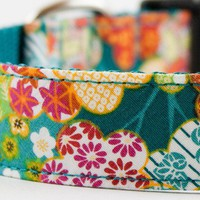 Sakura Dog Collar by SillyBuddy on Etsy
