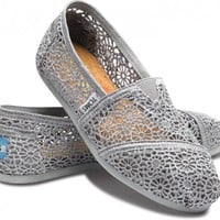 Classics - Silver Crochet Women&#x27;s Classics | TOMS.com