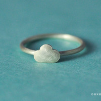 Tiny Cloud Ring by mxmjewelry on Etsy