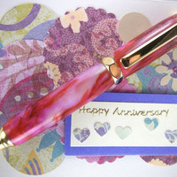 Handcrafted Wooden Pen Hand Turned Red and by MikesPenTurningZ