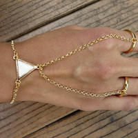 Stylish yet simple Gold Ring Bracelet by JuliLand on Etsy