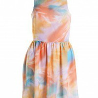 LOVE Pastel Print Cross Back Dress - Love