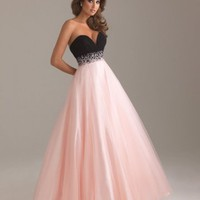 Sweetheart two-toned ball gown with beaded belt(pds2350)