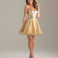 A-line Sweetheart Cocktail Dress with Sequin