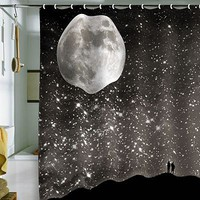 DENY Designs Shannon Clark Love Under The Stars Fabric Shower Curtain