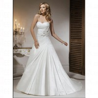 Spring 2012 Simple Sweetheart Floor Length Church Lace up Wedding Dress