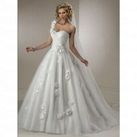 Spring 2012 Princess Sweetheart Sleeveless Dropped Lace up Wedding Dress