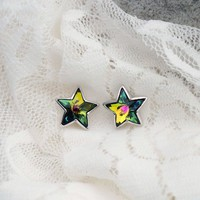 Wishing Stars Studs with Swarovski Elements