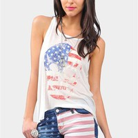 USA Skull Tank - Ivory