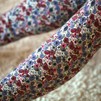 Blue floral leggings by DGstyle on Etsy