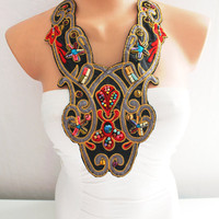 Collar Necklace - Statement Necklace Colorful