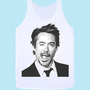Robert Downey Jr mug shot wink TANK TOP Unisex
