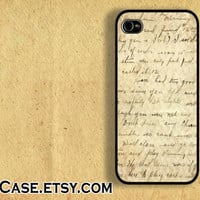 IPHONE CASE iPhone 5 Case iPhone 4 case Samsung Galaxy S3 Case vintage grunge lyrics text letter